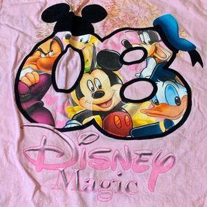 2008 Disney Men's Size M 7-9 Short Sleeve Cotton